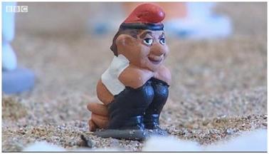 Traditional Catalan Christmas figure: the caganer.